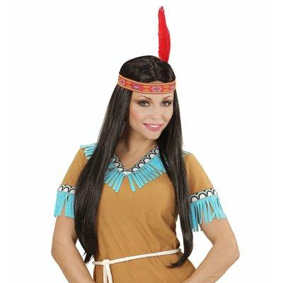 Indianenpruik Met Hoofdband En Veer