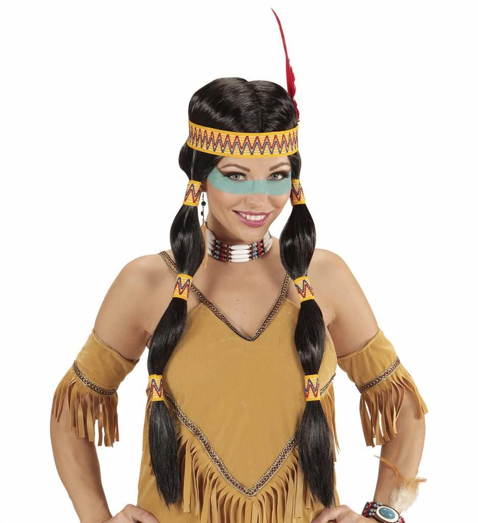 Indianenpruik Squaw Met Hoofdband