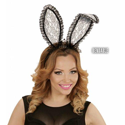 Bunny Oren Zwart Kant