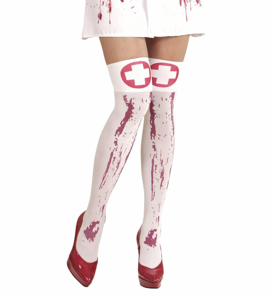 Kniekousen Met Bloed Verpleegster