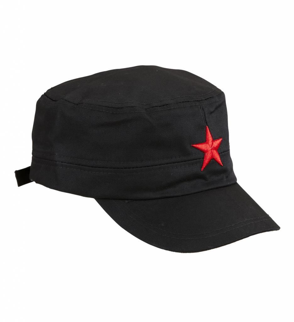 Zwarte Cap Met Rode Ster