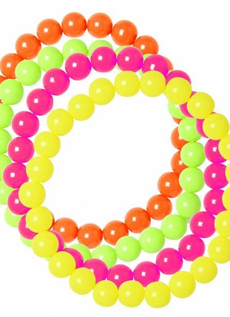 Neon Geparelde Armband
