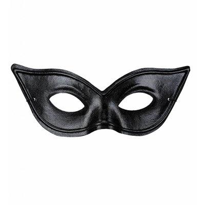 Oogmasker Zwart Kat/S&M