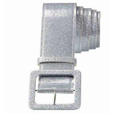 Riem Glitter 120Cm Zilver