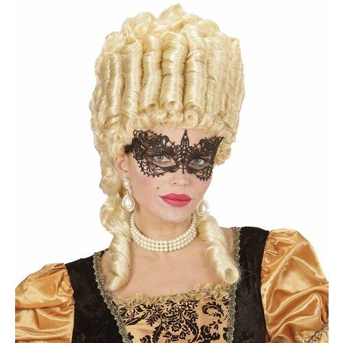 Oogmasker Zwart Met Kant