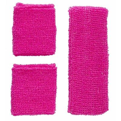 Zweetband Set Neon Roze