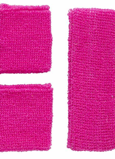 Zweetband Set, Neon Rose