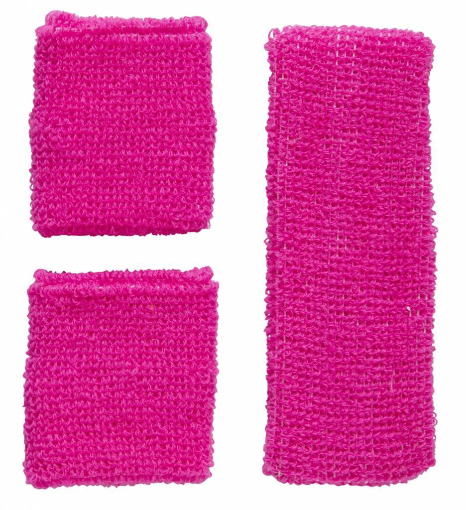 Zweetband Set Neon Rose
