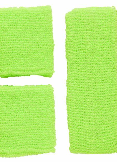 Zweetband Set, Neon Groen