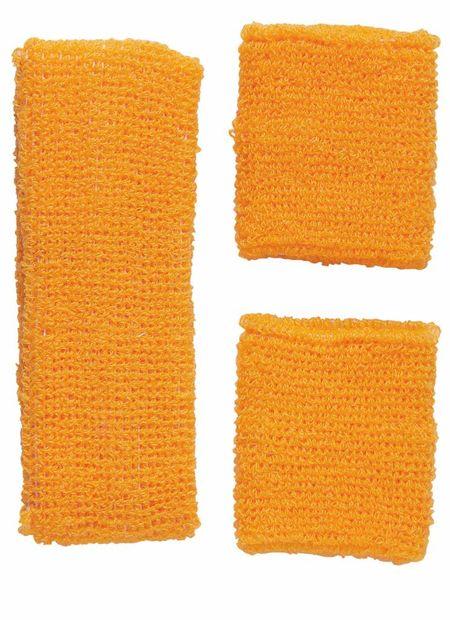 Zweetband Set, Neon Oranje