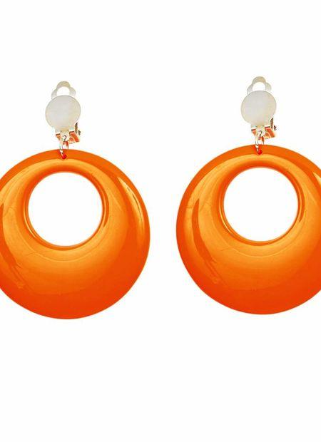 Oorringen Neon Oranje