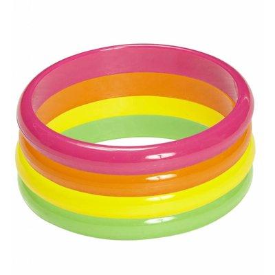 Set Van 4 Neon Armbanden