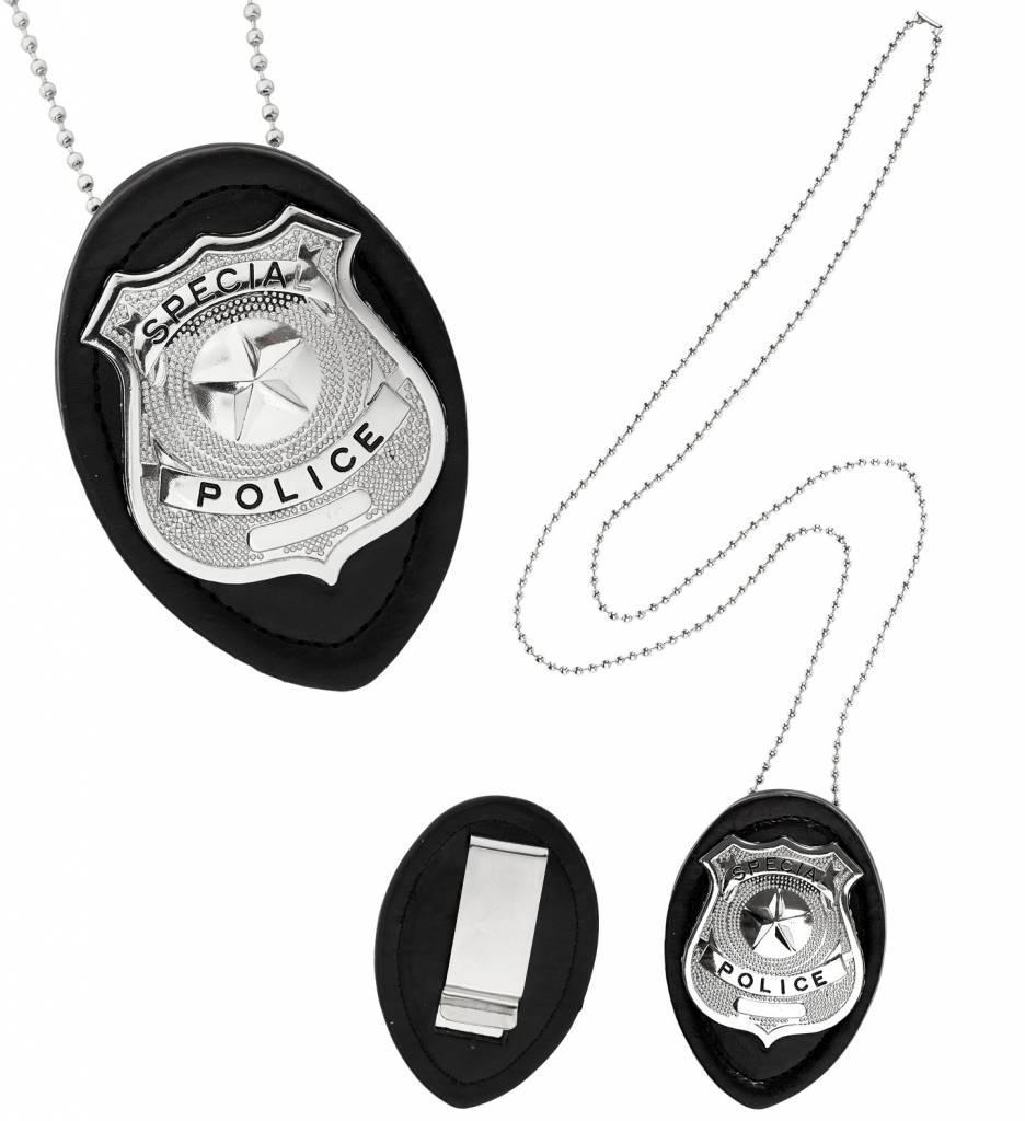 Politie Badge Aan Ketting