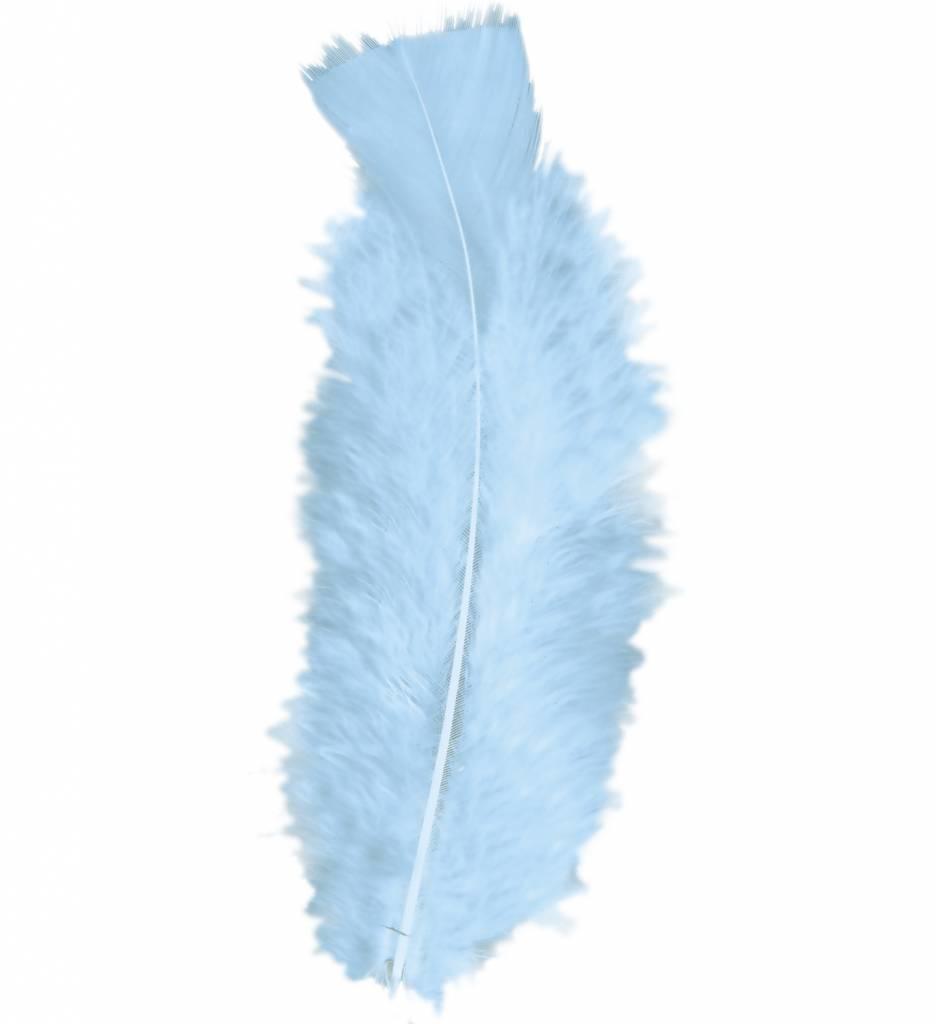 Zakje Met 50 Veertjes Licht Blauw