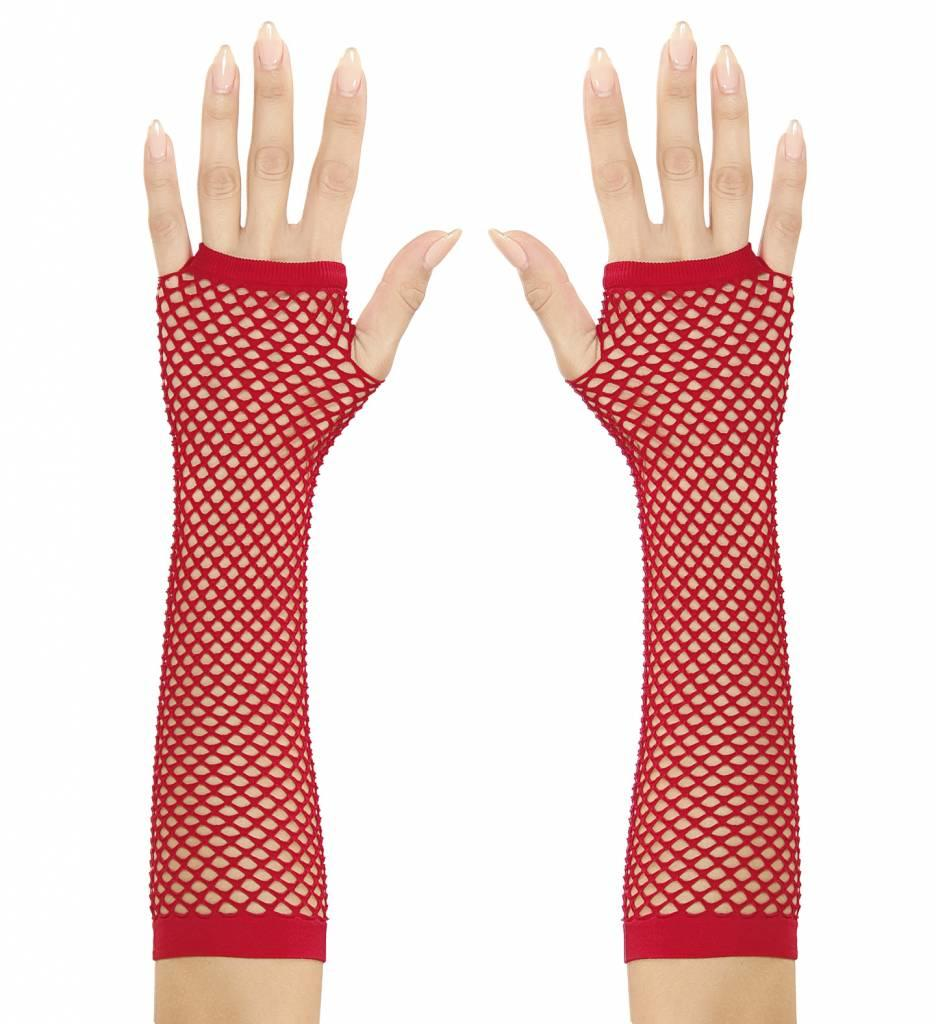 Nethandschoenen Rood Vingerloos