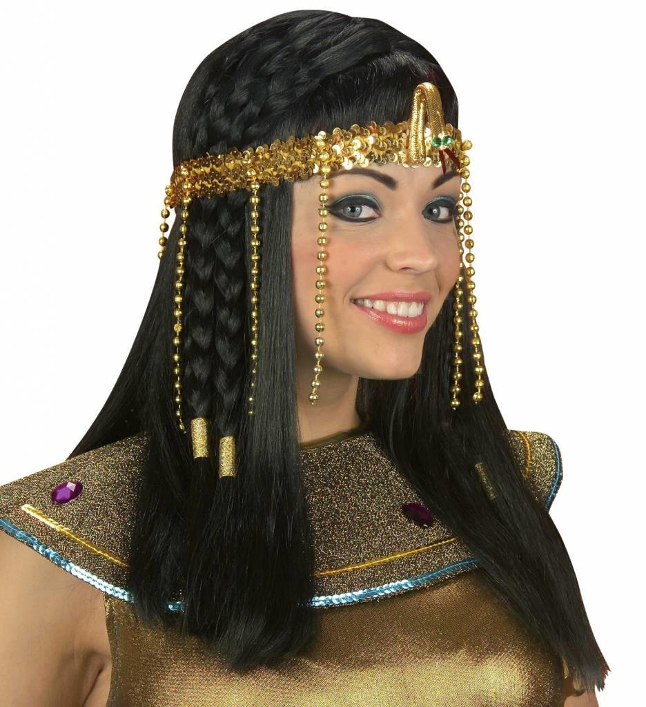 Egyptisch Hoofdstuk Met Parels