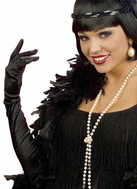 Handschoenen Zwart, Katoen , 60Cm