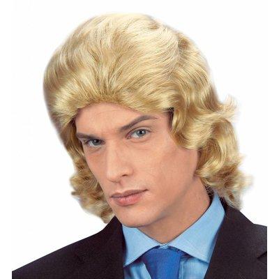 Pruik Frankie Blond In Doos
