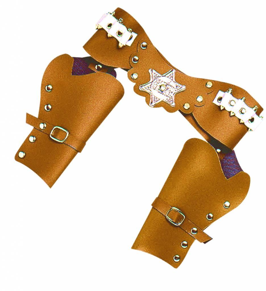 Luxe Dubbel Holster Cowboy Bruin