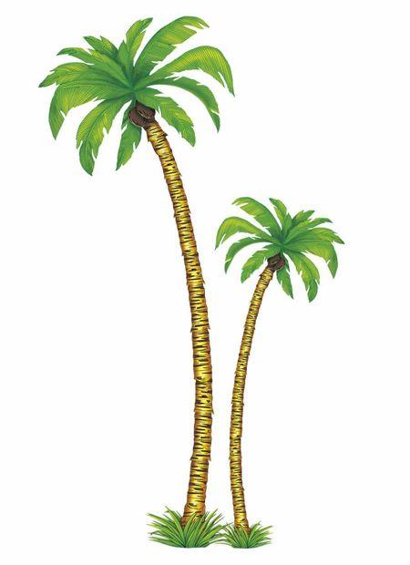 2 Palmbomen 1X180Cm , 1X116Cm