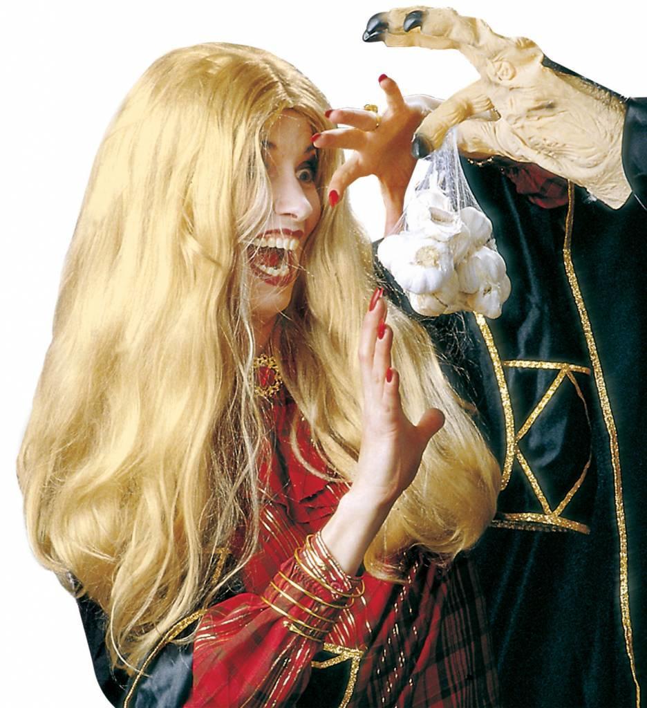 Pruik Heks Morgana Blond (In Plastic Zak)