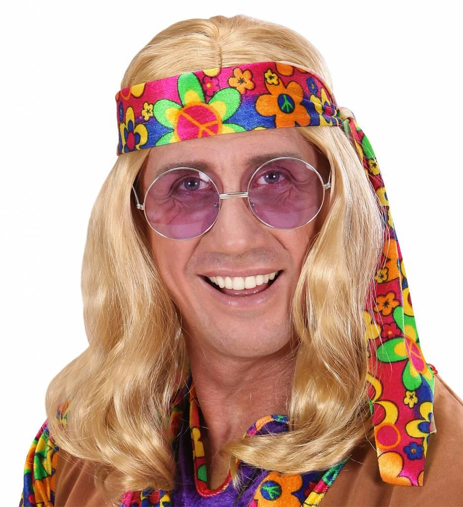 Pruik Hippie (Lennon) Blond