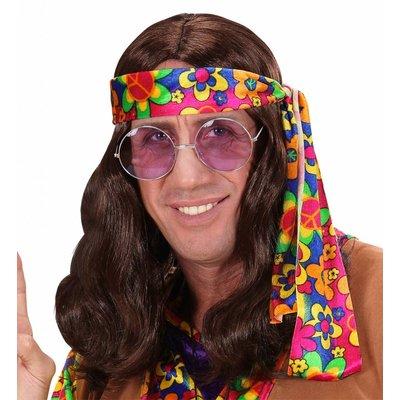 Pruik Hippie (Lennon) Bruin