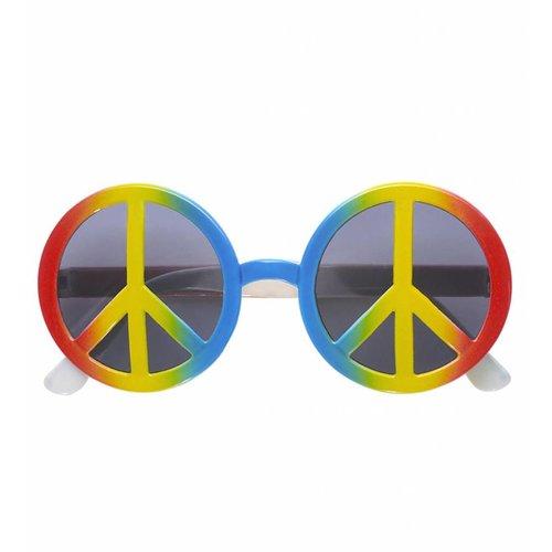 Bril Love And Peace Multi Kleuren