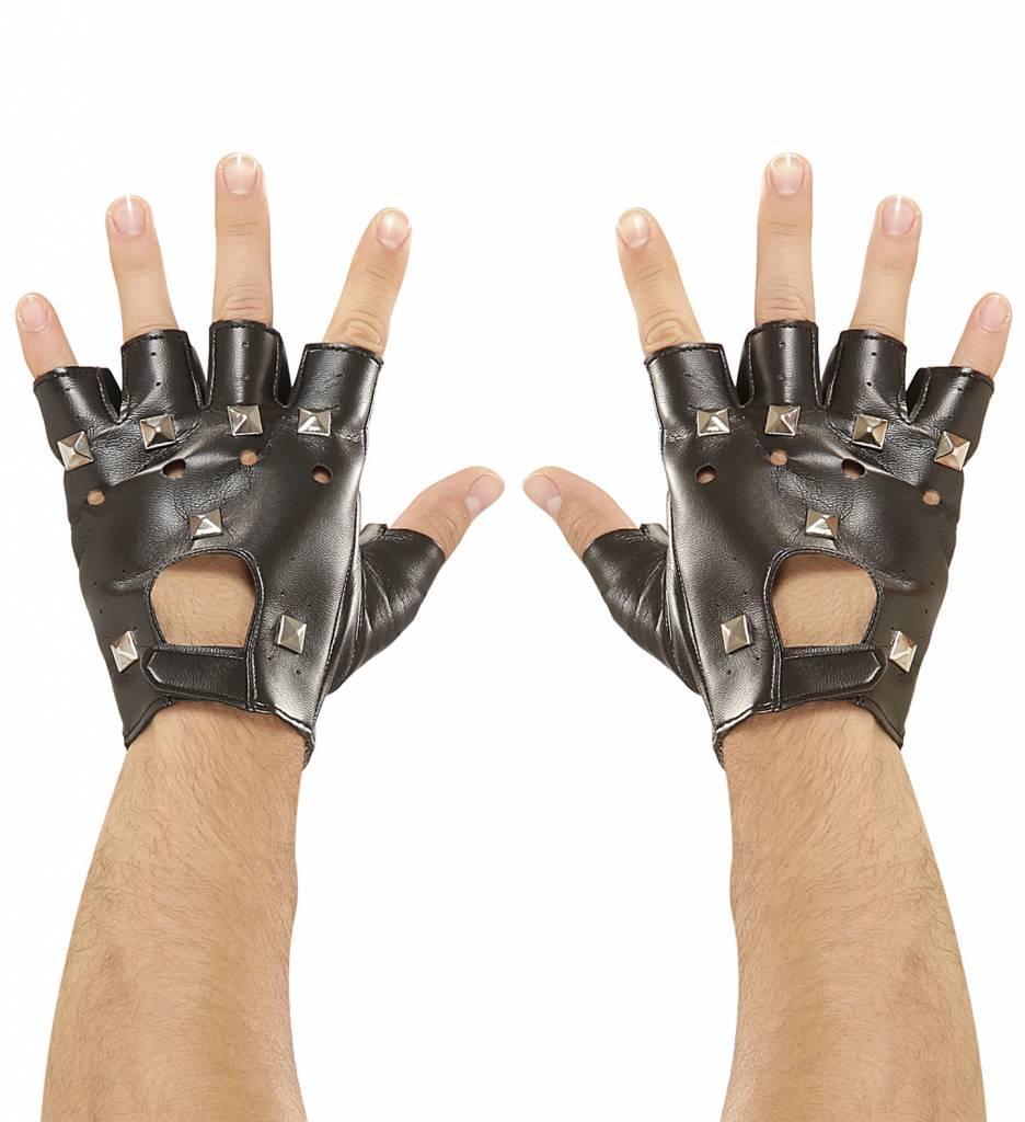 Handschoenen Lederlook Met Spijkers (Biker)