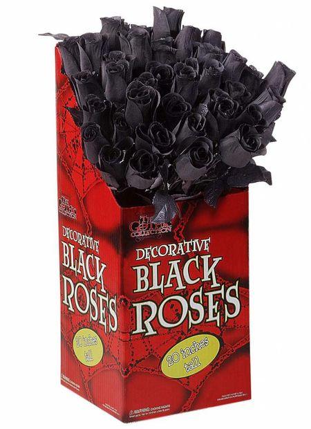 Display Doos Met 48 Zwarte Rozen