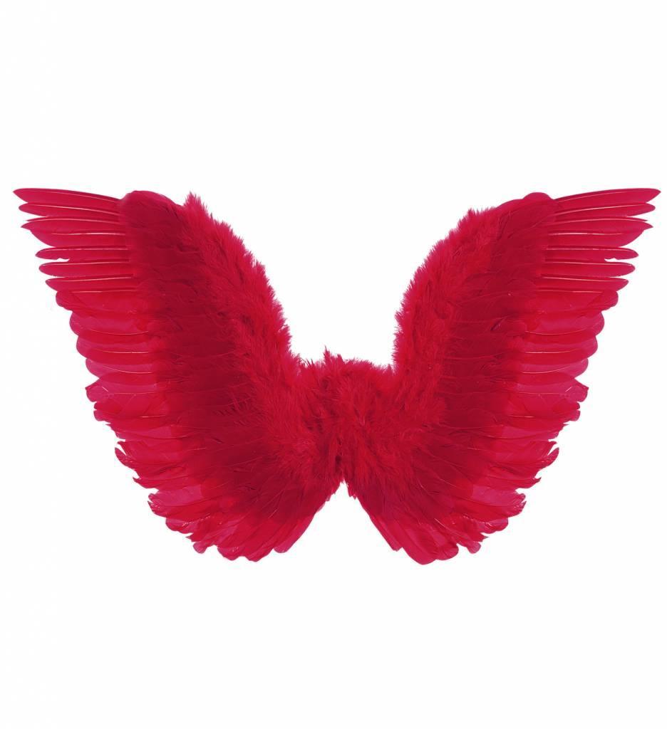 Gevederde Vleugels Rood 86X31