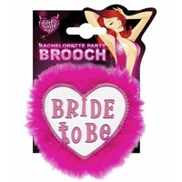 """Broche Wit """"Bride To Be"""""""