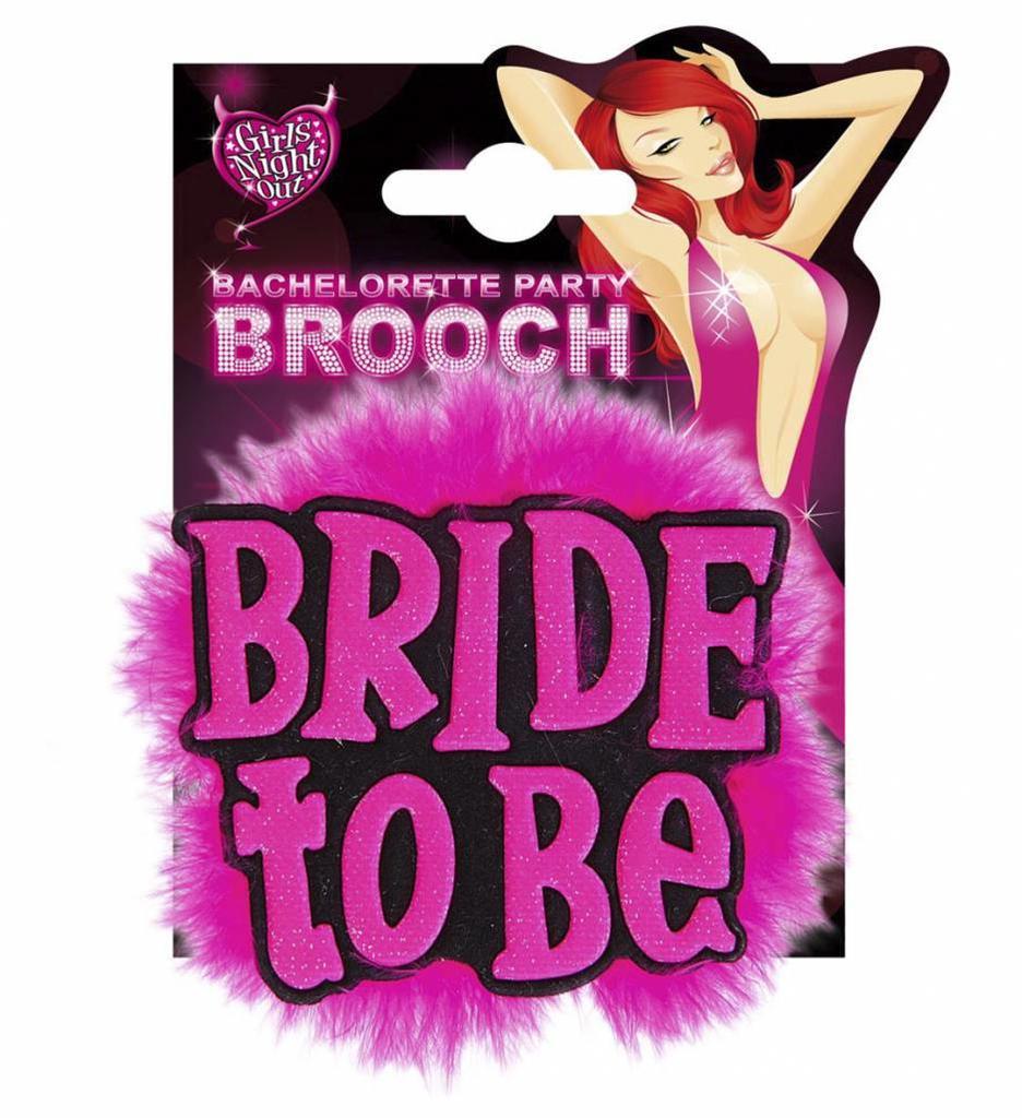 """Broche Zwart """"Bride To Be"""""""
