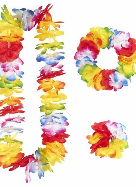 Luxe Meerkleurige Hawaii Set