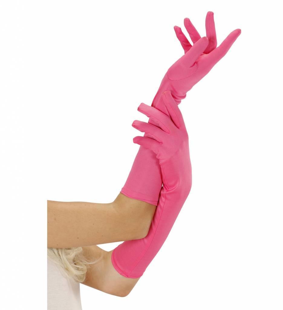 Handschoen Lang Neon Roze