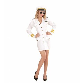 Vrouwelijke Marine Kapitein Kostuum