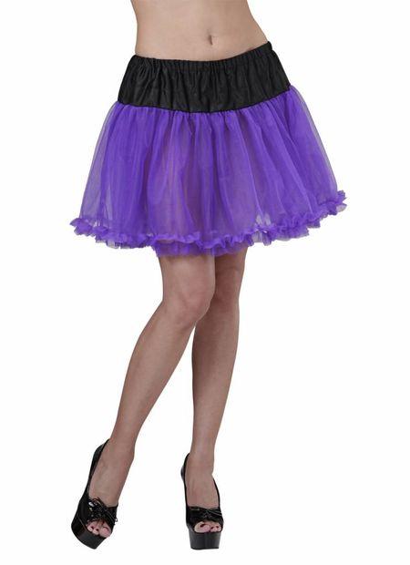 Petticoat Zwart/Paars