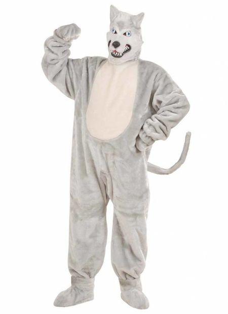Plushe Kostuum Wolf