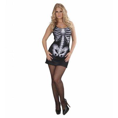 Sexy Skelet Meisje Kostuum