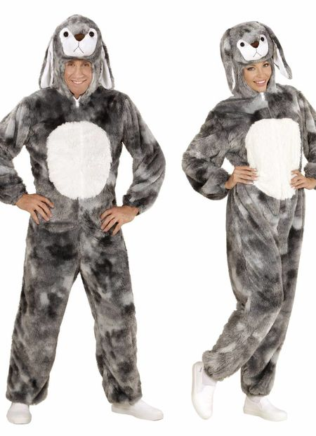 Plushe konijn grijs