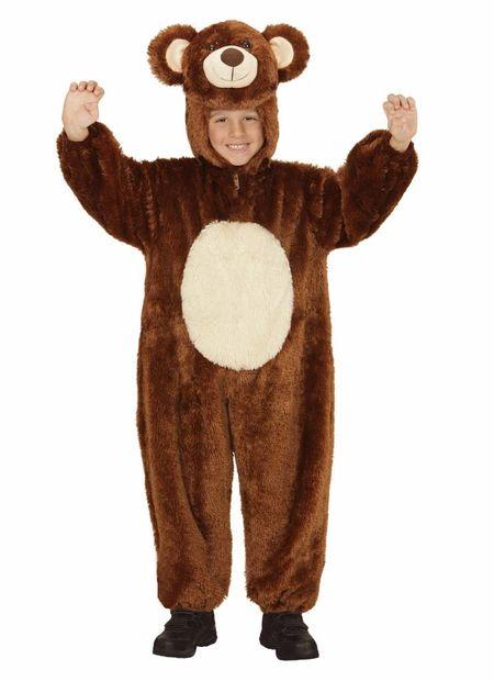 Jumpsuit met kap en masker beer