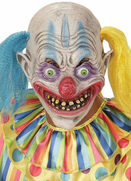 Masker psychopaat clown met haar