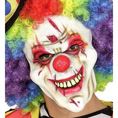 Killer Clown Masker Halfgezicht