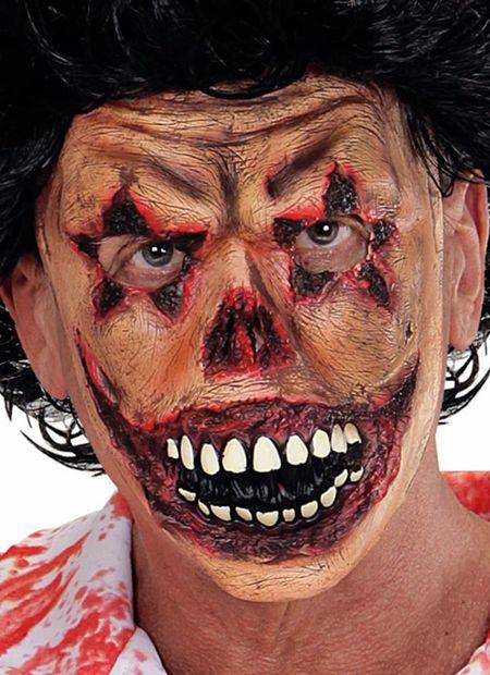 Halfgezicht masker horror clown