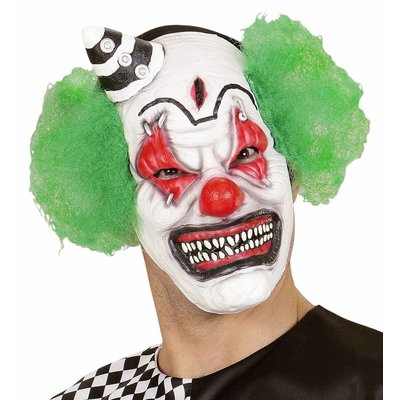 Halfgezichtmasker Killerclown Met Haar En Minihoed