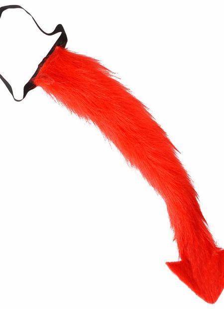 Plushe duivelstaart, rood