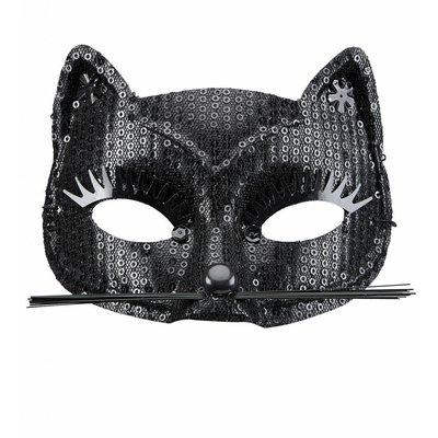 Oogmasker Kat Met Zwarte Pareltjes