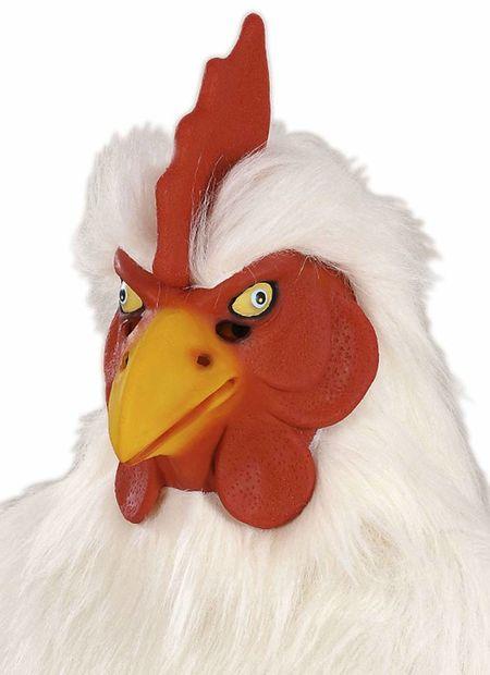 Masker kip van plushe