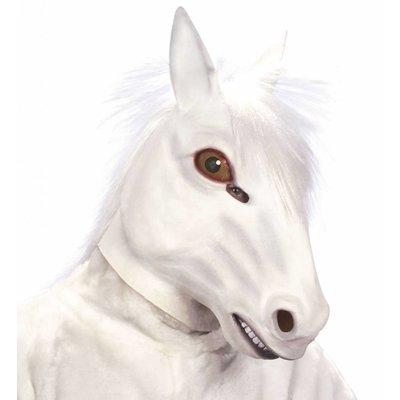Masker Paard Met Haar Wit