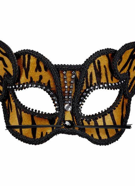 Oogmasker tijger met strass